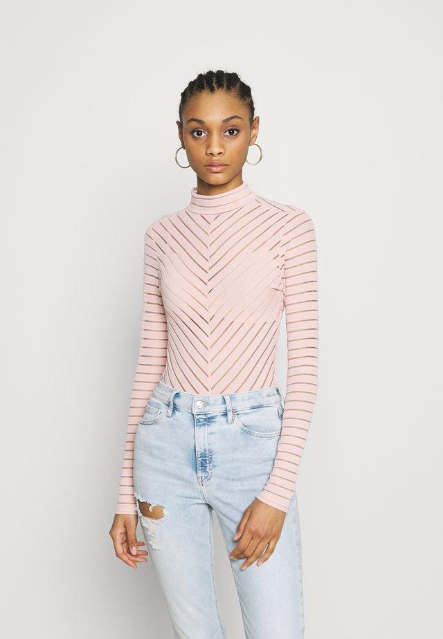 STRIPE - Long sleeved top - mid pink
