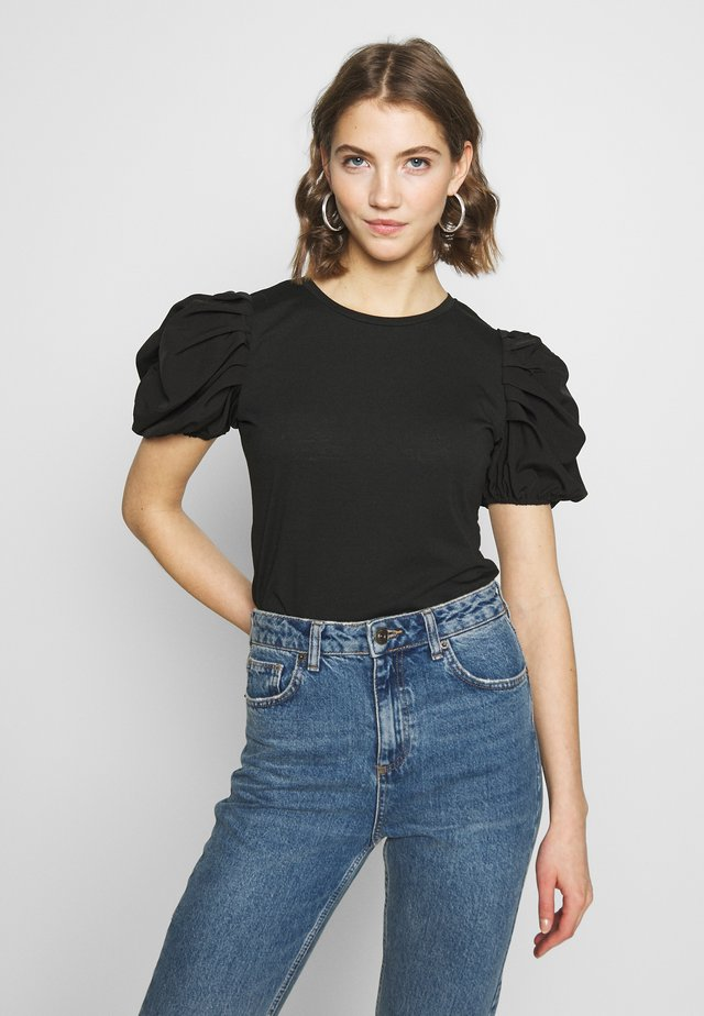 RUHED - T-shirt con stampa - black