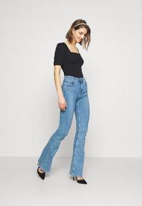 New Look - MINI SQUARE NECK - T-shirt basic - black - 1