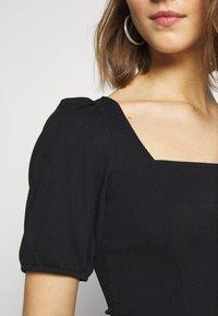 New Look - MINI SQUARE NECK - T-shirt basic - black - 5