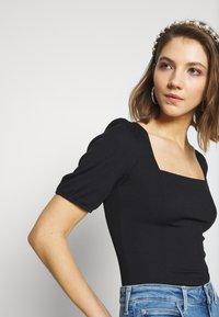 New Look - MINI SQUARE NECK - T-shirt basic - black - 3