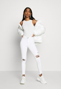 New Look - SOFT RIB RACER - Top - off white - 1