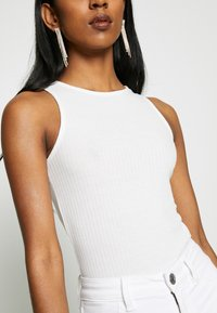 New Look - SOFT RIB RACER - Top - off white - 4