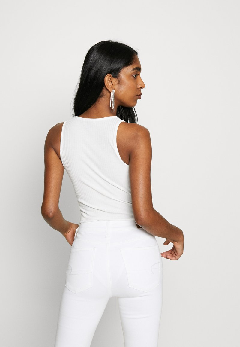 New Look - SOFT RIB RACER - Top - off white