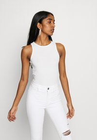 New Look - SOFT RIB RACER - Top - off white - 2