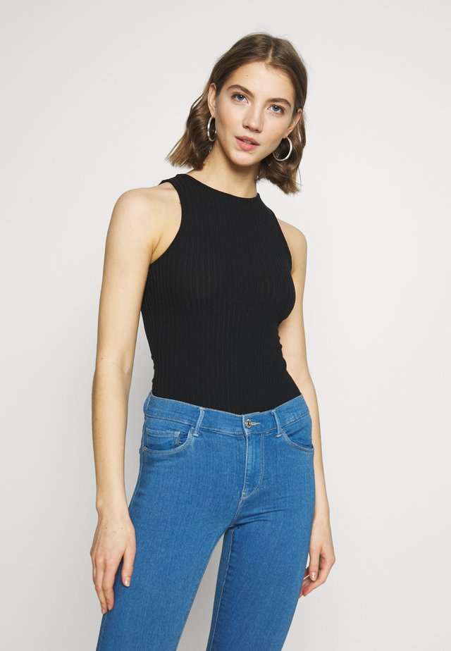 SOFT RIB RACER - Top - black