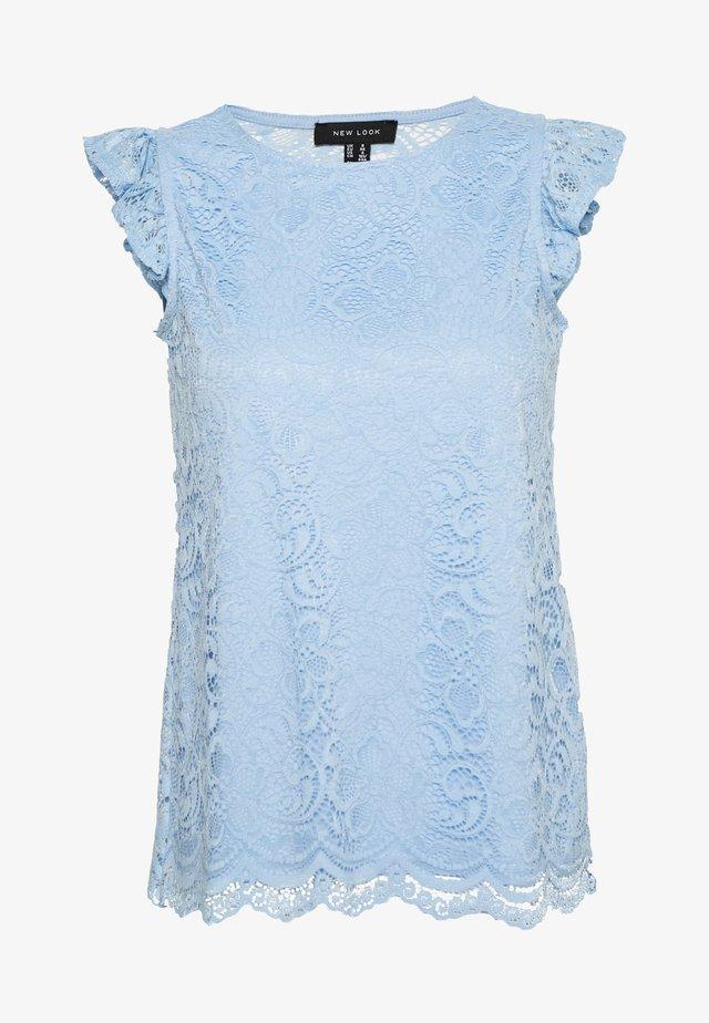 SCALLOP FRILL SHELL - Bluzka - light blue