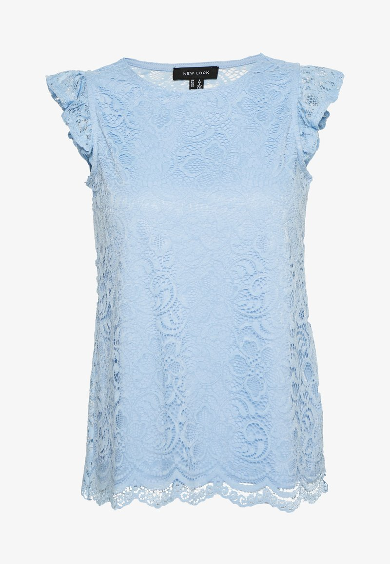 New Look - SCALLOP FRILL SHELL - Bluser - light blue