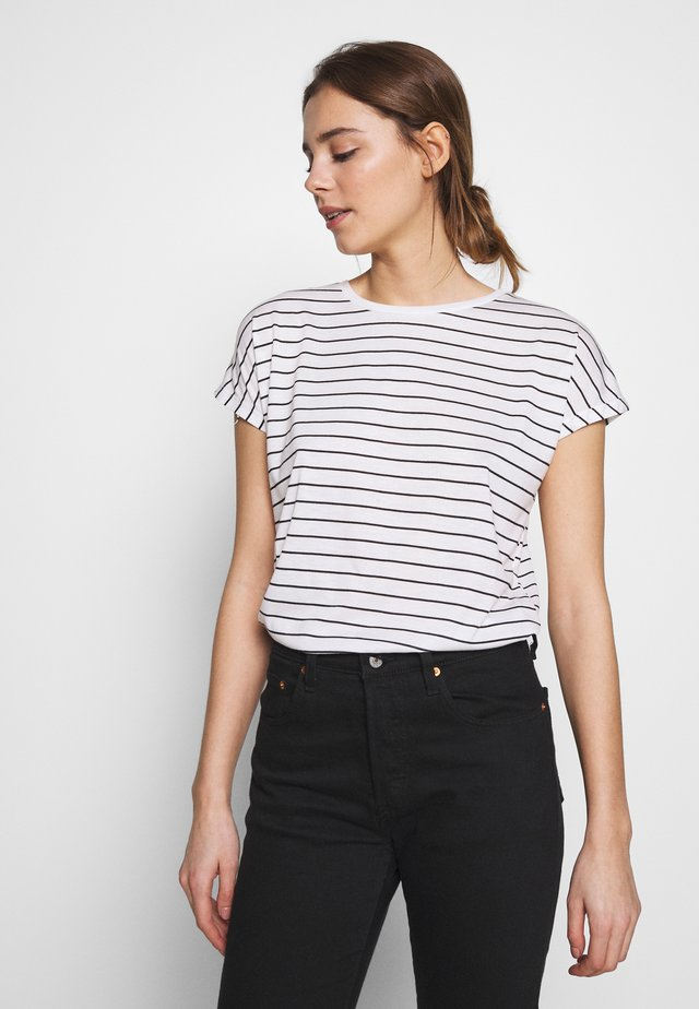 STRIPE LL EASY TEE - T-shirt print - white pattern