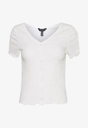 VARI BUTTON TEE - T-shirts med print - off white