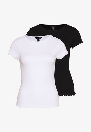 TEE 2 PACK - Camiseta básica - black/white