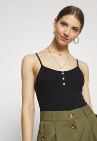 New Look - BUTTON FRONT BODY 2 PACK - Top - black - 5
