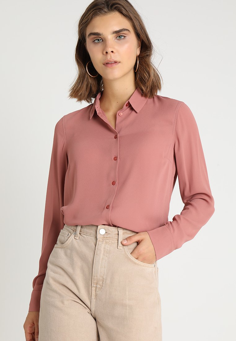 New Look - PLAIN LEAD - Button-down blouse - dusty pink