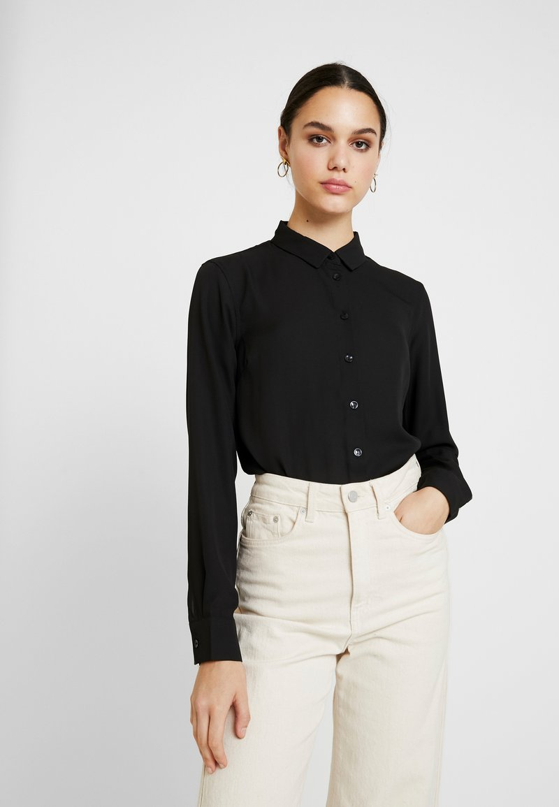 New Look - PLAIN LEAD - Button-down blouse - black