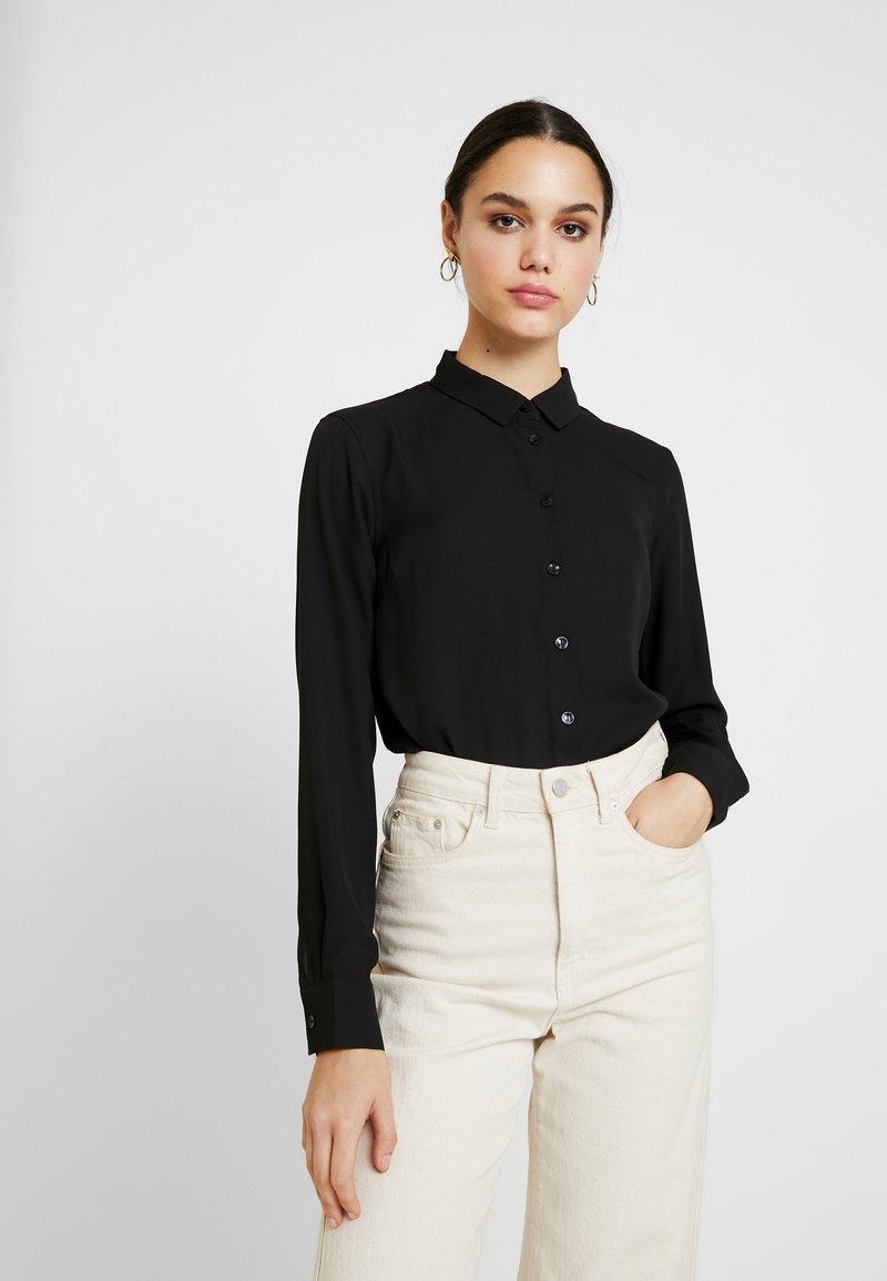 New Look - PLAIN LEAD - Button-down blouse - black