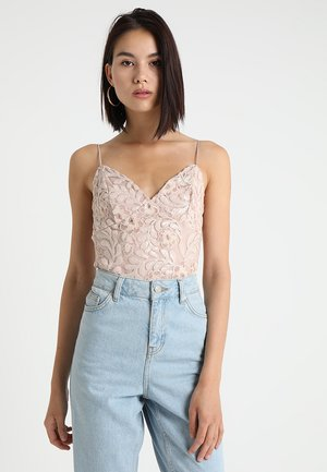 SEQUIN EMBROIDERED BODY - Topper - nude