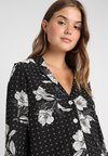 New Look - GEO FLORAL PEGGY - Button-down blouse - black