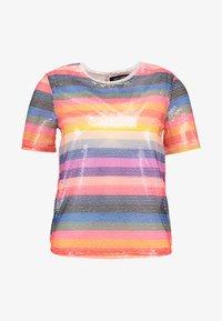 New Look - GO RAINBOW STRIPE SEQUIN TEE - Bluzka - multi-coloured - 4