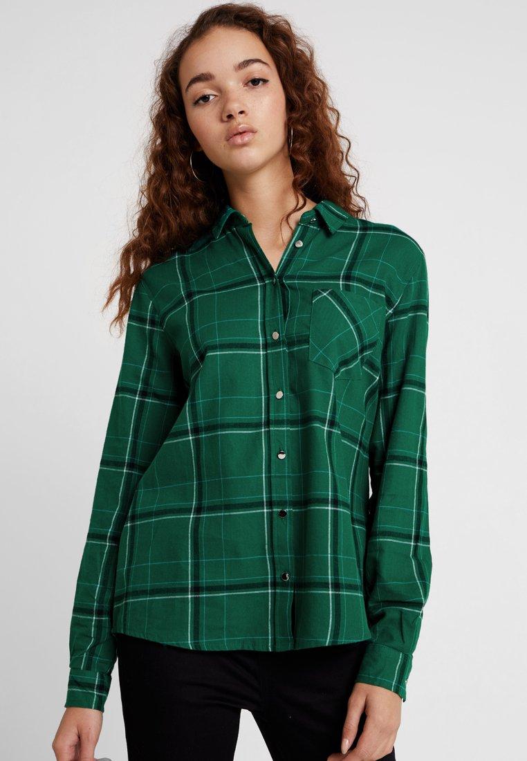 New Look - TONY CHECK SHIRT - Bluse - green