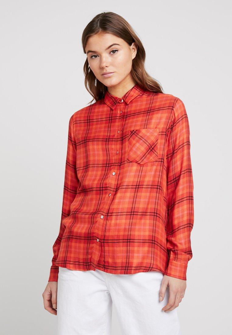 New Look - KICKY CHECK - Hemdbluse - orange