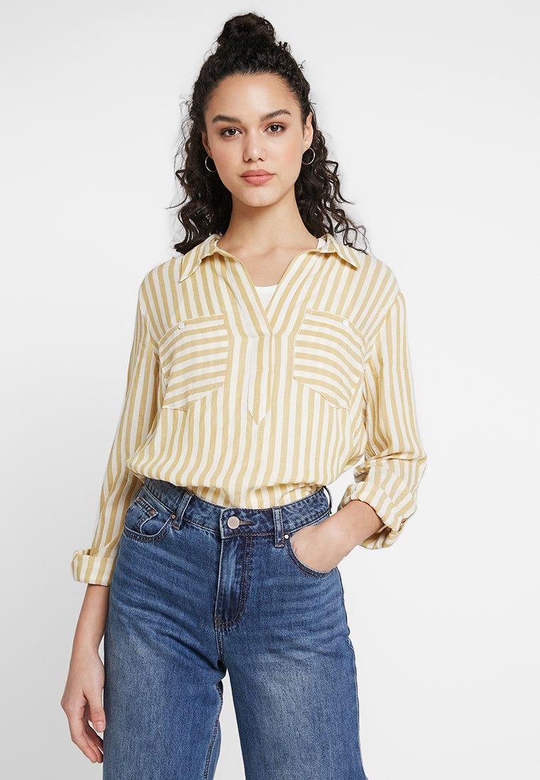 New Look - RICKY STRIPE POCKET OHEAD - Bluse - yellow