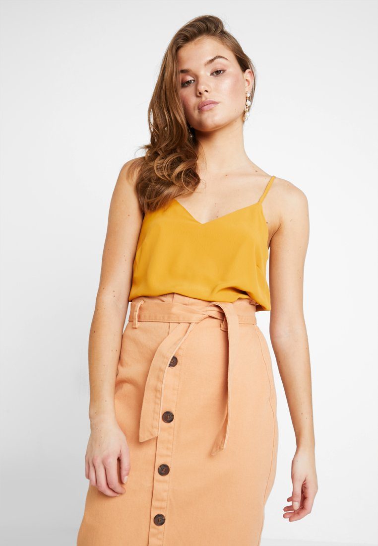 New Look - CROSS BACK CAMI - Débardeur - bright yellow