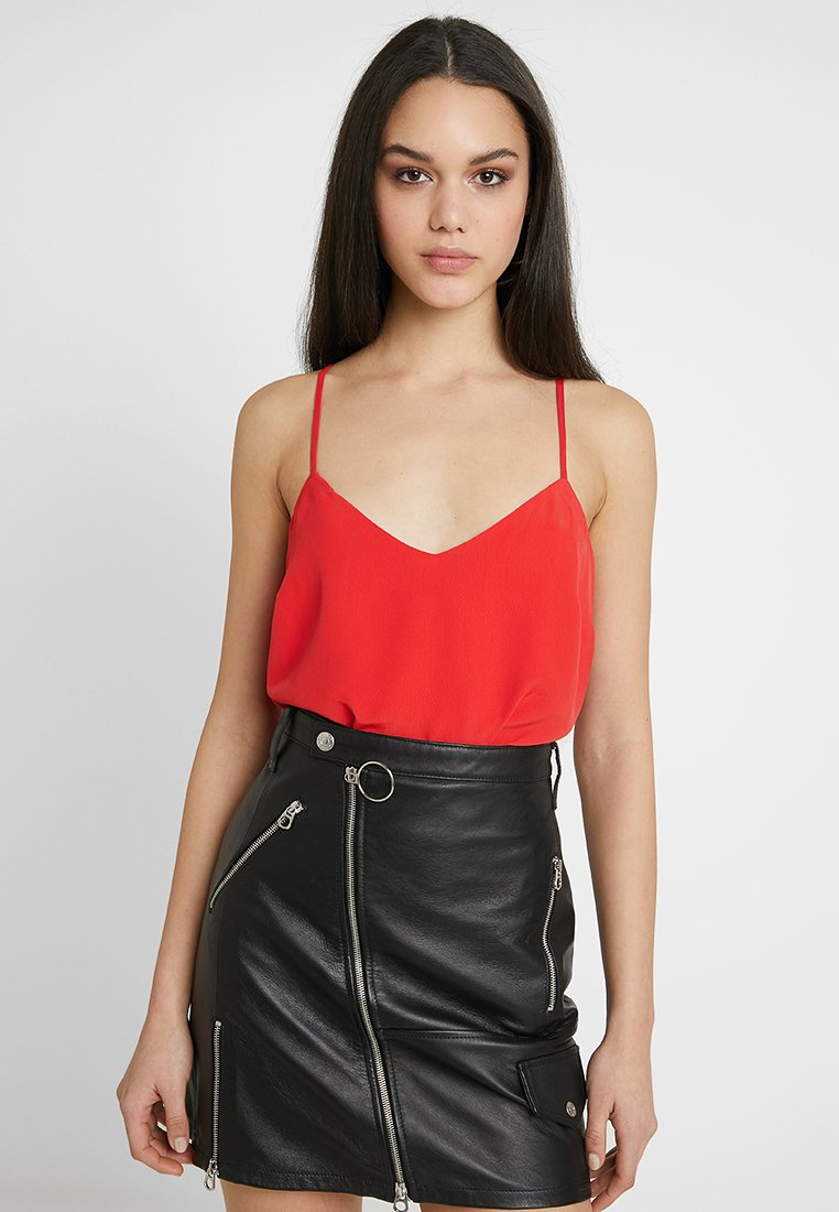 New Look - CROSS BACK CAMI - Top - bright red