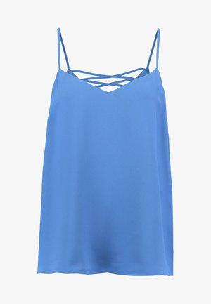 CROSS BACK CAMI - Top - mid blue