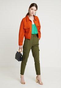 New Look - CROSS BACK CAMI - Top - mid green - 1
