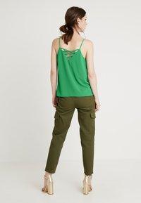 New Look - CROSS BACK CAMI - Top - mid green - 2