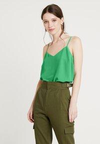 New Look - CROSS BACK CAMI - Top - mid green - 0