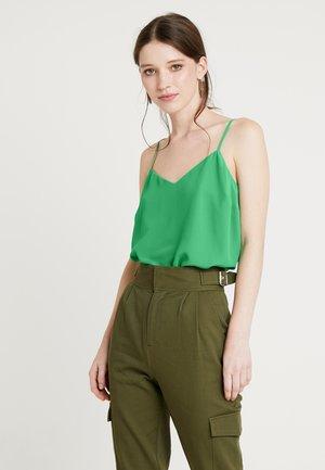CROSS BACK CAMI - Top - mid green