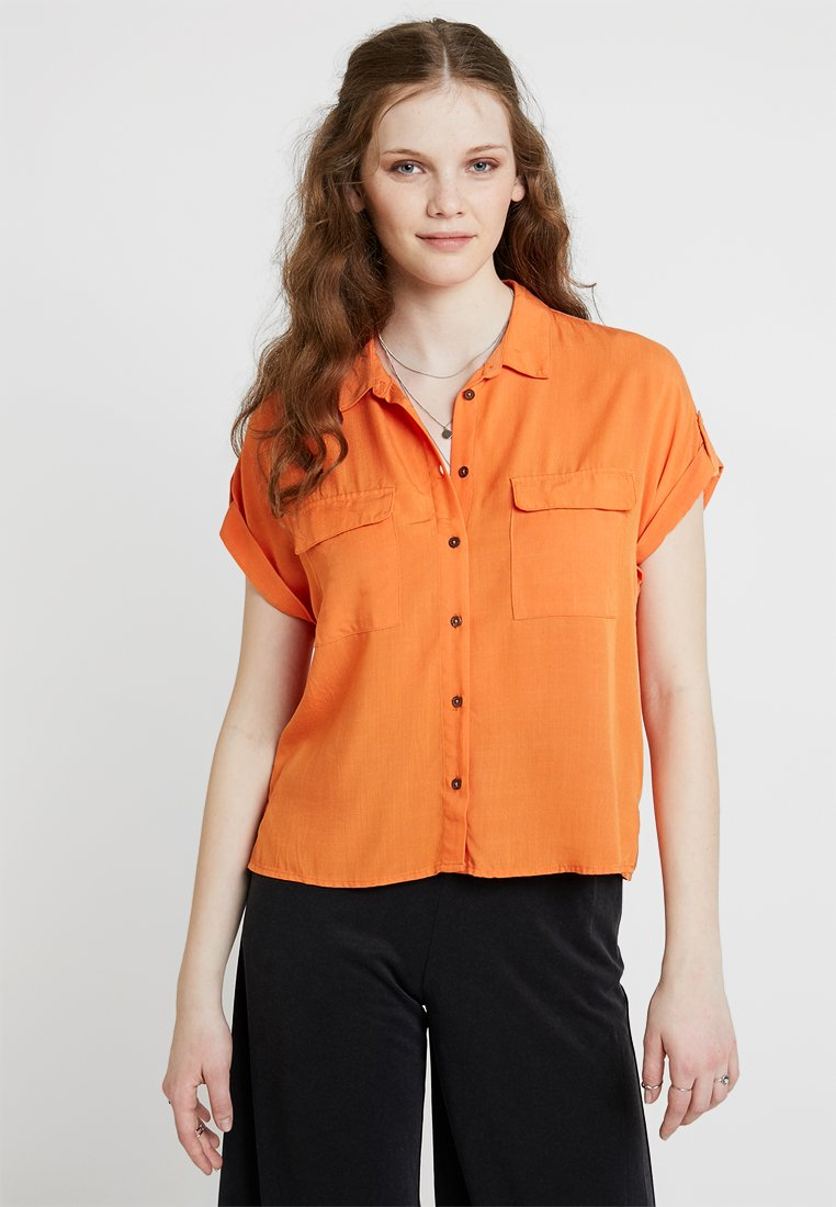 New Look - JEFF PATCH POCKET - Hemdbluse - bright orange