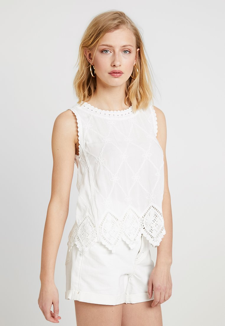 New Look - LEXIE LATTICE SHELL - Bluse - white
