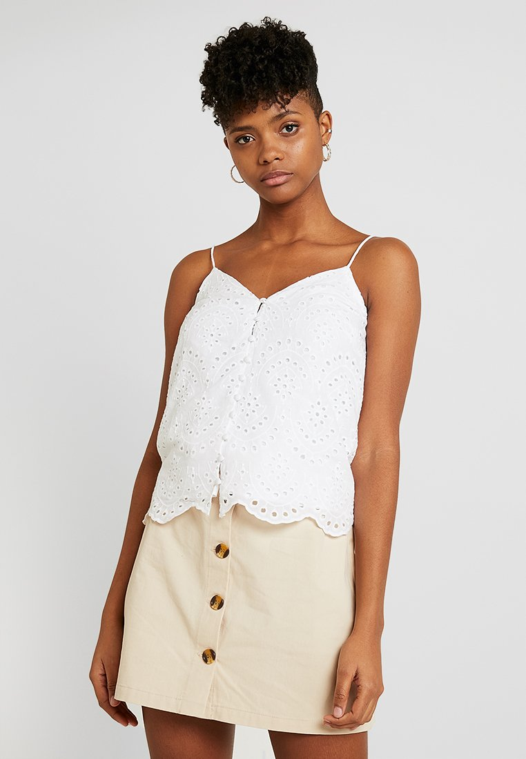 New Look - BAILEY BRODERIE THROUGH CAMI - Top - white