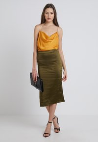 New Look - JODIE WRAP CAMI - Top - mustard - 1