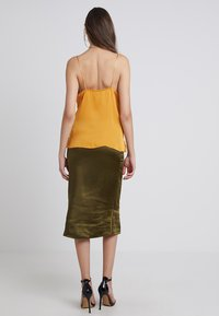 New Look - JODIE WRAP CAMI - Top - mustard - 2