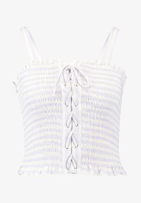 New Look - BIANCA STRIPE LACE UP SHIRRED CAMI - Blusa - purple - 3