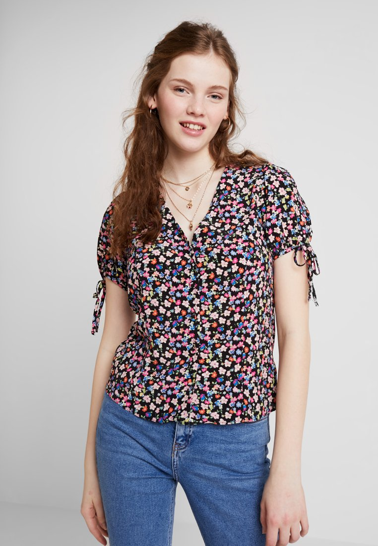 New Look - BOBBY FLORAL TIE - Blouse - black