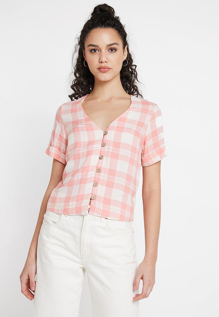 New Look - THEA CHECK THRU SHIRT  - Bluse - pink