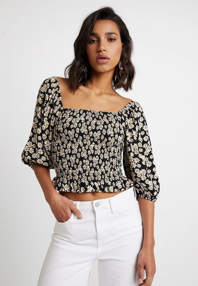 New Look - MICHAEL DAISY BLOUSE - Bluse - black
