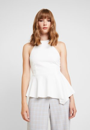 GO HIGH NECK PEPLUM - Topper - cream