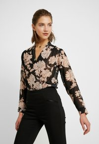 New Look - FLORAL BODY - Blouse - black - 0
