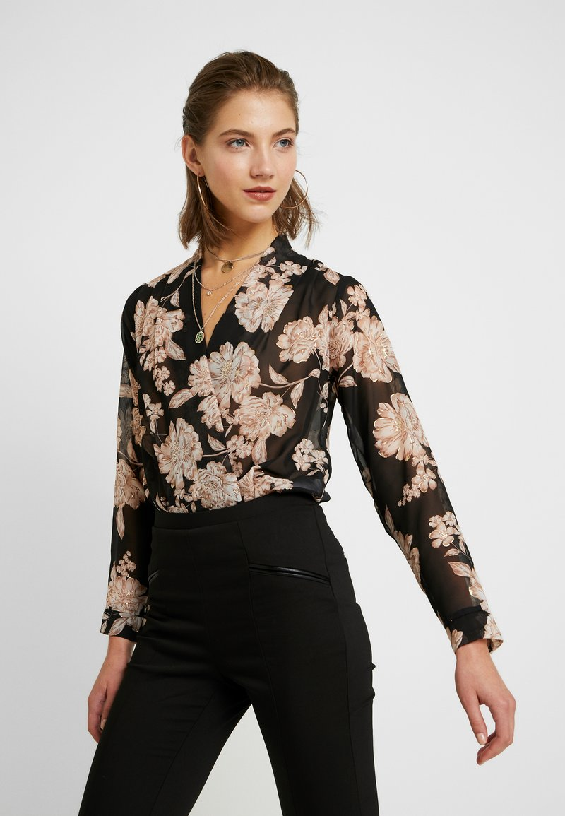 New Look - FLORAL BODY - Bluse - black