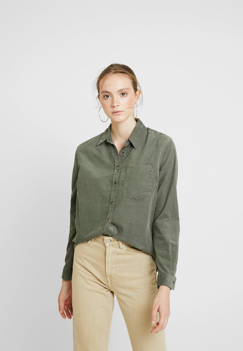 New Look - LI CONOR - Button-down blouse - dark khaki