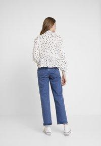 New Look - SPOT BOW PEPLUM - Blouse - white - 2