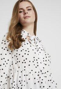 New Look - SPOT BOW PEPLUM - Blouse - white - 4