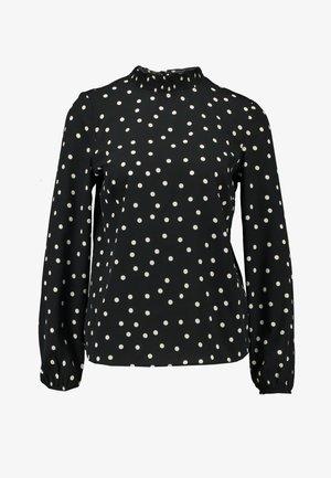 SHARON MONO SPOT SHELL - Bluse - black
