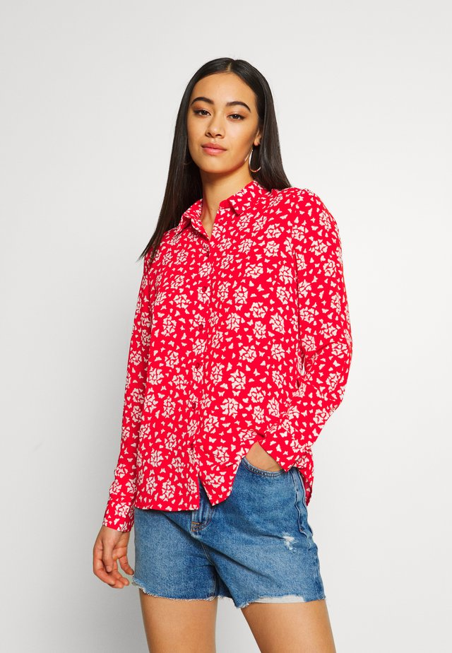 JANE BUTTERFLY - Button-down blouse - red