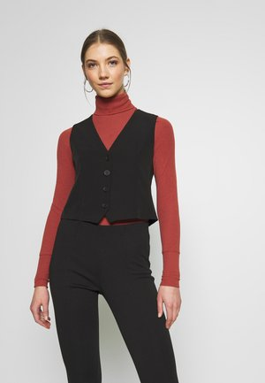 FITTED WAISTCOAT - Blouse - black